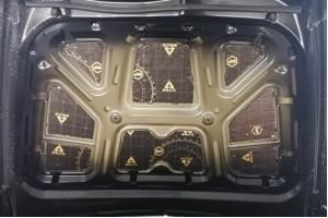 Виброизоляция и шумоизоляция крышки капота авто