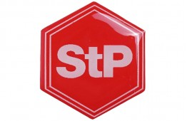 Шильдик StP (червоний)